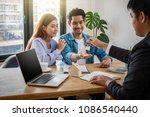 sale representative offer the... | Shutterstock . vector #1086540440