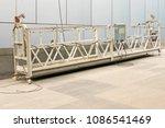 hanging scaffolding platform or ...   Shutterstock . vector #1086541469
