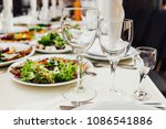 beautifully decorated catering... | Shutterstock . vector #1086541886
