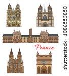 france travel famous landmark... | Shutterstock .eps vector #1086553850