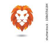 lion head full color logo vector | Shutterstock .eps vector #1086556184
