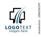 medical hair logo vector   Shutterstock .eps vector #1086556199