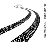 vector winding trace of the... | Shutterstock .eps vector #108658670