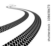 vector winding trace of the... | Shutterstock .eps vector #108658673