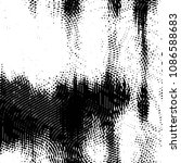 grunge halftone black and white ... | Shutterstock . vector #1086588683