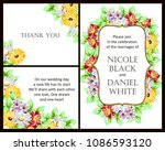 invitation with floral... | Shutterstock .eps vector #1086593120