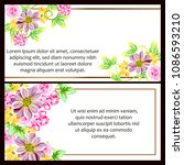 invitation with floral... | Shutterstock .eps vector #1086593210