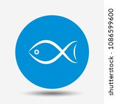 fish. seafood or animal symbol. ... | Shutterstock .eps vector #1086599600