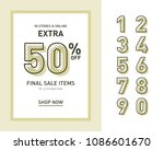 vintage sales template for... | Shutterstock .eps vector #1086601670
