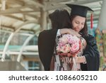 mother congratulations  hug ... | Shutterstock . vector #1086605210