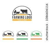 cow farm farm symbol... | Shutterstock .eps vector #1086606116