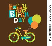 Greeting Card With Cute Bike....
