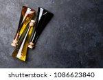 olive oil and vinegar bottles.... | Shutterstock . vector #1086623840