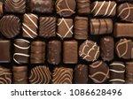 beautiful creative chocolate...   Shutterstock . vector #1086628496