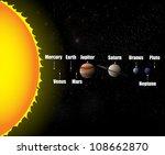 solar system background eps10 | Shutterstock .eps vector #108662870