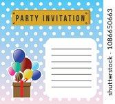 happy birthday vector... | Shutterstock .eps vector #1086650663