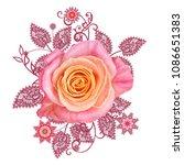decorative decoration  paisley...   Shutterstock . vector #1086651383
