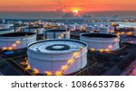 aerial view oil storage tank at ... | Shutterstock . vector #1086653786