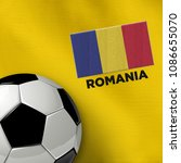 soccer theme with romania...   Shutterstock . vector #1086655070
