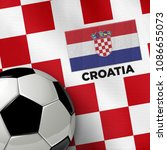 soccer theme with croatia...   Shutterstock . vector #1086655073