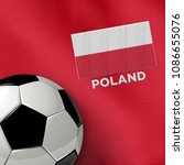 soccer theme with poland... | Shutterstock . vector #1086655076