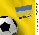 soccer theme of ukraine with... | Shutterstock . vector #1086656030