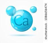 realistic detailed 3d calcium... | Shutterstock .eps vector #1086656474