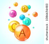 realistic detailed 3d vitamin... | Shutterstock .eps vector #1086656483
