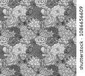 vector succulents seamless... | Shutterstock .eps vector #1086656609