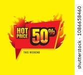 hot price sale burn. discount... | Shutterstock .eps vector #1086658460