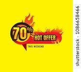 hot offer sale burn. discount... | Shutterstock .eps vector #1086658466