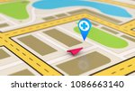 navigation map showing the... | Shutterstock . vector #1086663140