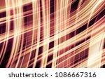 abstract stripes orange... | Shutterstock . vector #1086667316