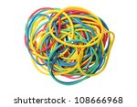 rubber bands on white background | Shutterstock . vector #108666968