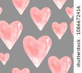 watercolor seamless pattern of... | Shutterstock . vector #1086672416