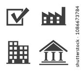 business vector icon set... | Shutterstock .eps vector #1086673784