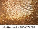golden glitter background ... | Shutterstock . vector #1086674270