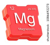 magnesium element symbol from... | Shutterstock . vector #1086692273