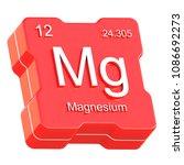 magnesium element symbol from... | Shutterstock . vector #1086692273