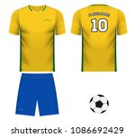brazil national soccer team... | Shutterstock .eps vector #1086692429