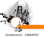 illustration with speakers and... | Shutterstock . vector #10866931