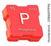 phosphorus element symbol from... | Shutterstock . vector #1086695996