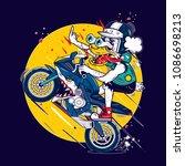 Crazy Motorcycle Duck
