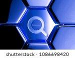 blue metallic search minus icon ... | Shutterstock . vector #1086698420