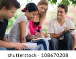 friends and education  group of ... | Shutterstock . vector #108670208