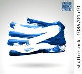 blue brush stroke and texture....   Shutterstock .eps vector #1086704510