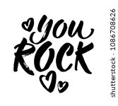 you rock. valentines day... | Shutterstock .eps vector #1086708626