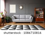 black and white carpet with... | Shutterstock . vector #1086710816