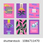 abstract tropical poster... | Shutterstock .eps vector #1086711470