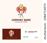 company logo design with name... | Shutterstock .eps vector #1086714074